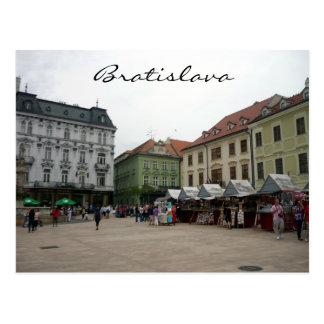 bratislava square postcard