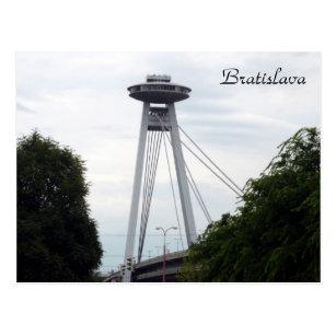 bratislava UFO bridge Postcard