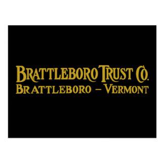 Brattleboro Trust Co., 1918 Logo Postcard