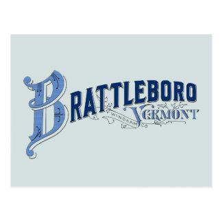 Brattleboro, Vermont, Windham County 1896 Logo Pos Postcard