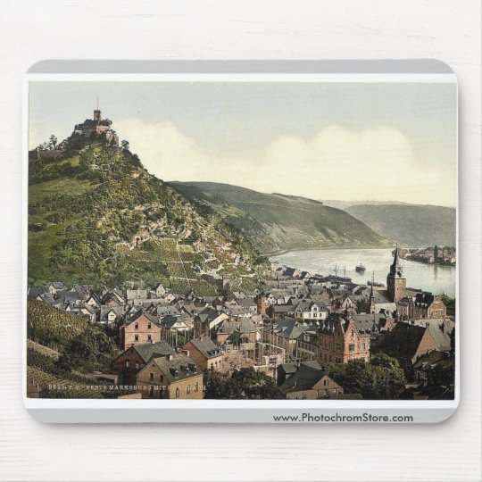 Braubach and Marksburg, the Rhine, Germany rare Ph