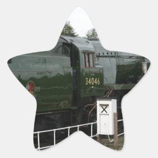 Braunton loco at Williton, Somerset Star Sticker