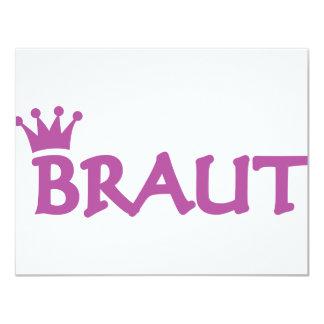 Braut icon 11 cm x 14 cm invitation card