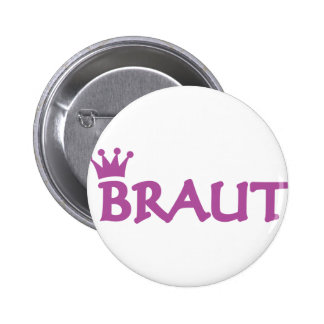 Braut icon 6 cm round badge