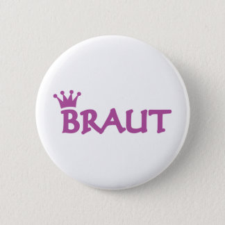 Braut icon 6 cm round badge