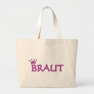 Braut icon large tote bag
