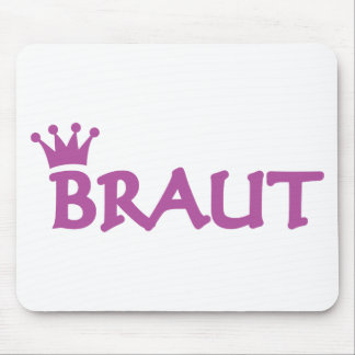 Braut icon mouse pad