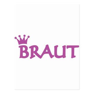 Braut icon postcard