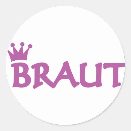 Braut icon sticker