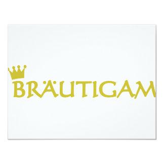 Bräutigam icon 11 cm x 14 cm invitation card