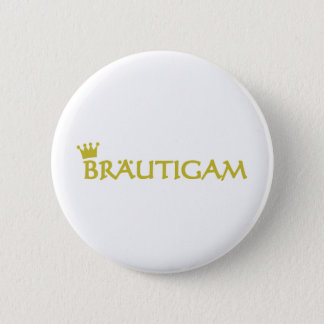 Bräutigam icon 6 cm round badge