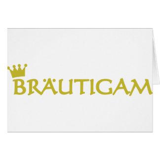 Bräutigam icon greeting card