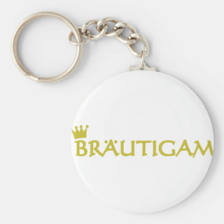 Bräutigam icon basic round button key ring