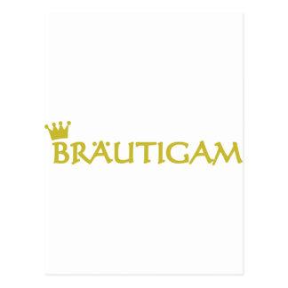 Bräutigam icon postcard