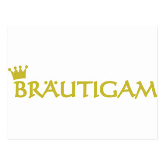 Bräutigam icon postcard