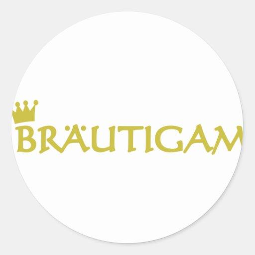 Bräutigam icon sticker