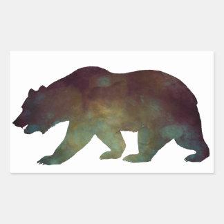 Brave as a Bear Watercolor Rectangular Sticker