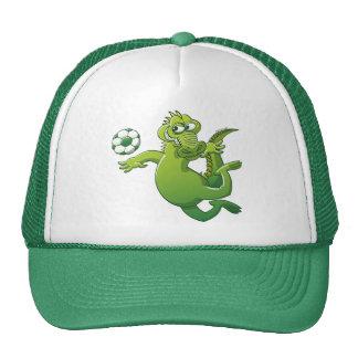 Brave Crocodile Heading a Soccer Ball Cap