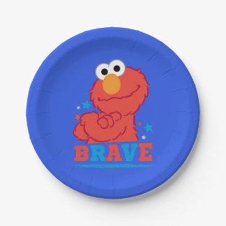 Brave Elmo Paper Plate