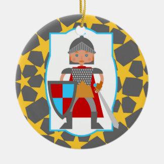 Brave Knight Boy Birthday Party Christmas Ornament