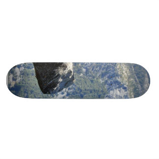 Brave Person Walking Out On The Glacier Point Ledg Custom Skateboard