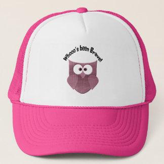Brave Pink Owl Trucker Hat