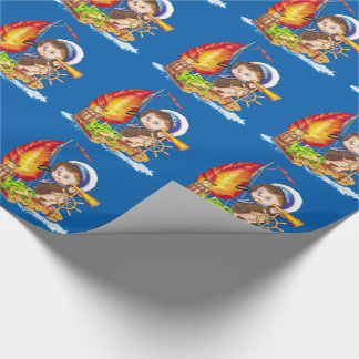 Brave sailor wrapping paper