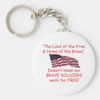 Brave Soldiers Basic Round Button Key Ring