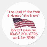 Brave Soldiers Sticker