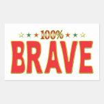 Brave Star Tag Rectangular Stickers