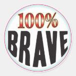 Brave Tag Round Stickers