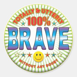 Brave Totally Round Sticker
