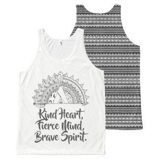 Brave Vibes All-Over Print Tank Top