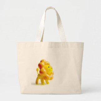 brave yellow lion jumbo tote bag