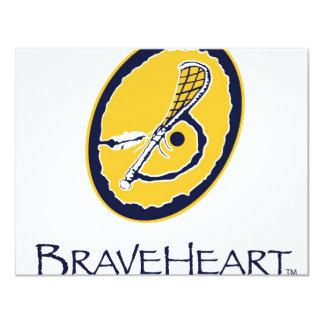 BraveHeart Corp Logo 11 Cm X 14 Cm Invitation Card