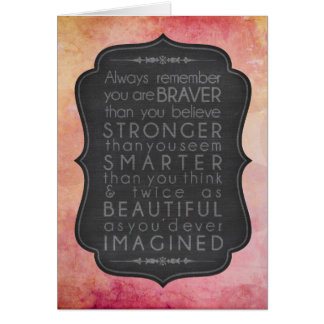 Braver than you believe inspiration card