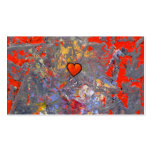 Bravery courage facing fears bold modern heart art pack of standard business cards