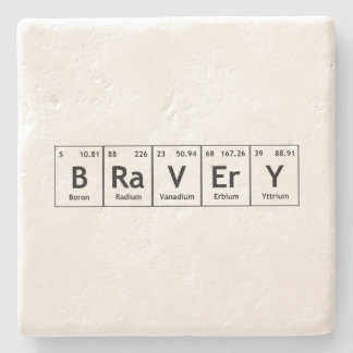 BRaVErY Elements Symbols Periodic Table Words Atom Stone Coaster