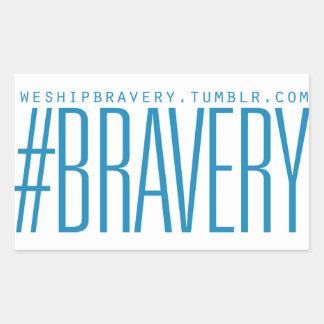 #Bravery Gifts - Light Blue on White Rectangular Sticker