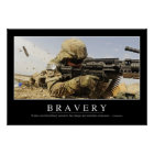 Bravery: Inspirational Quote Poster