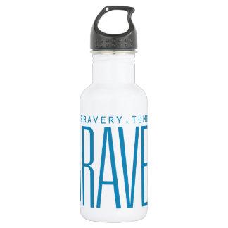 #Bravery - Light Blue on White 532 Ml Water Bottle