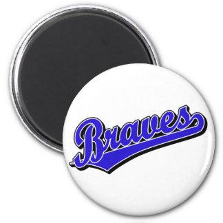 Braves in Blue 6 Cm Round Magnet