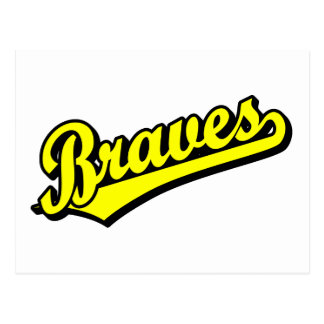 Braves in Yellow Post Cards