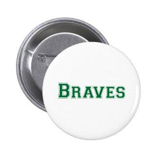 Braves square logo in green 6 cm round badge