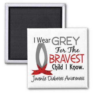 Bravest Child I Know Juvenile Diabetes Fridge Magnet