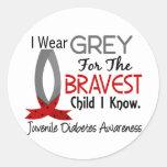 Bravest Child I Know Juvenile Diabetes Round Stickers