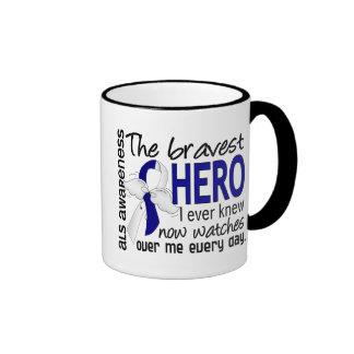 Bravest Hero I Ever Knew ALS Ringer Mug