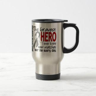 Bravest Hero I Ever Knew Brain Cancer Stainless Steel Travel Mug