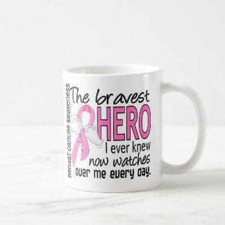 Bravest Hero I Ever Knew Breast Cancer Basic White Mug
