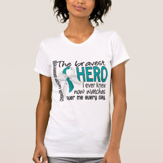 Bravest Hero I Ever Knew Cervical Cancer Tee Shirt